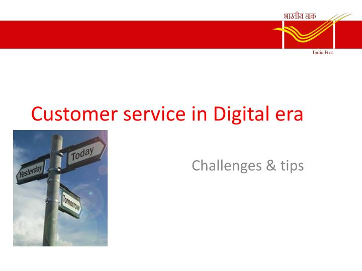 customer service in digital era n.