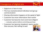 emergence of digital era