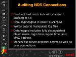 auditing nds connections