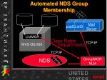 automated nds group membership