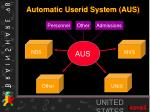 automatic userid system aus