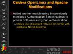 caldera openlinux and apache modifications1