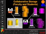collaborative storage faculty and students