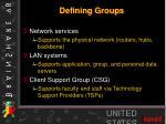 defining groups