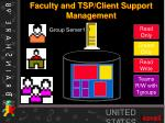 faculty and tsp client support management