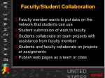 faculty student collaboration