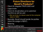 future directions for novell s products