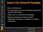 goals of the virtual pc paradigm
