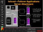isitcool failover applications server attachment
