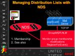 managing distribution lists with nds