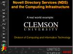 novell directory services nds and the computing infrastructure