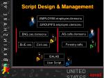 script design management