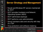 server strategy and management