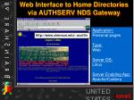 web interface to home directories via authserv nds gateway