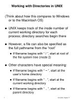 working with directories in unix