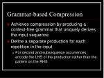 grammar based compression
