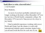 task2 how to write a farewell letter