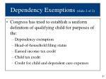 dependency exemptions slide 2 of 2