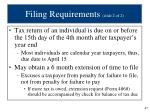 filing requirements slide 2 of 2