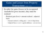gains and losses from property transactions slide 1 of 3