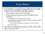 taxes rates