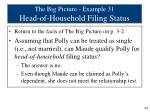 the big picture example 31 head of household filing status