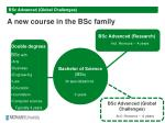 a new course in the bsc family