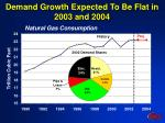 demand growth expected to be flat in 2003 and 2004
