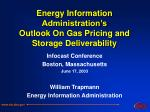 energy information administration s outlook on gas pricing and storage deliverability