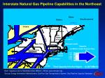 interstate natural gas pipeline capabilities in the northeast
