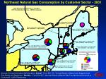 northeast natural gas consumption by customer sector 2001