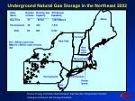 underground natural gas storage in the northeast 2002