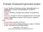 example employment generation project