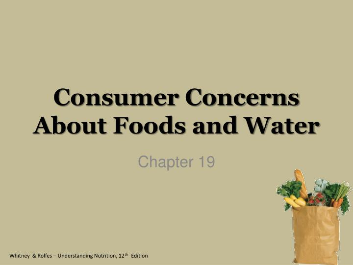 consumer concerns about foods and water n.