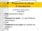proposition de phrase d introduction