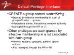 default privilege interface