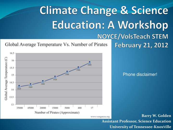 climate change science education a workshop noyce volsteach stem february 21 2012 n.