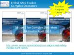 ehest sms toolkit complex operators