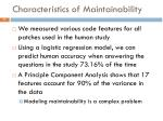 characteristics of maintainability