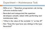 experiment maintenance task