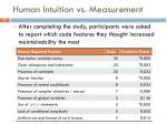 human intuition vs measurement