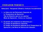 oxidador termico