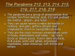 the parabens 212 213 214 215 216 217 218 219