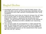 mughal decline