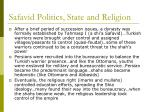 safavid politics state and religion