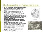 the leadership of akbar the great