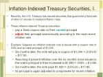 inflation indexed treasury securities i