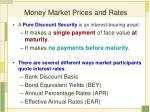money market prices and rates