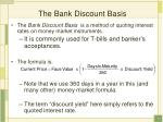 the bank discount basis