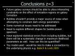 conclusions z 3